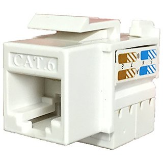 MP Data Systems CAT6 Keystone Jack -White - 25 Pack