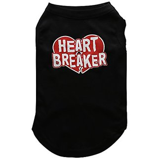 Mirage Pet Products 14-Inch Heart Breaker Screen Print Shirt for Pets, Large, Black