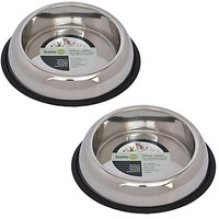 Iconic Pet 2 Cup Heavy Weight Non-Skid Easy Feed High Back Pet Bowl For Dog Or Cat (2 Pack), 16 Oz