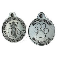 Saint Francis Of Assisi Patron Saint Of Pets / Protect My Pet Pewter Color Dog Cat Tag Charm
