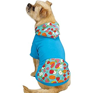 East Side Collection Polyester/Cotton Fruit Frenzy Dog Pullover, Large, Capri