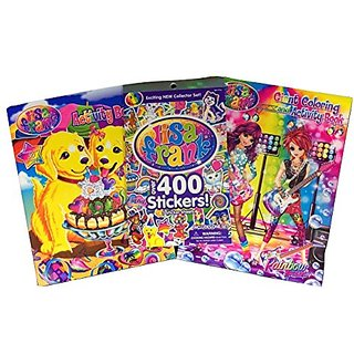 Lisa Frank Rainbow Rockers Coloring Book, an Activity Book, and over 400 Stickers