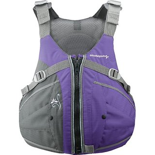 Stohlquist Womens Flo Life Jacket/Personal Floatation Device (Purple/Gray, Medium/Large)