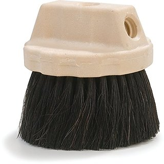 Carlisle 365127 Plastic Block Round FloThru Window Wash Brush, Polypropylene and Horsehair Bristles, 4-1/2