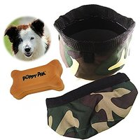 Genie Best Pet Travel Bowl Collapsible Premium Nylon For Every Dog Parent. 3-in-1 Food Water Bowls Water Proof And Treat