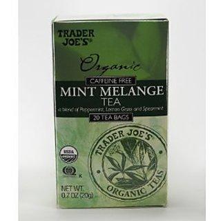 Trader Joes Organic Caffeine Free Mint Melange Tea (20 Tea Bags)