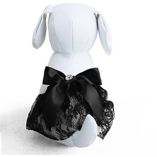 Tail Trends Black Lace Dog Tutu, Dog Dress (Medium)