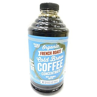 Trader Joes Organic French Roast Cold Brew Coffee Concentrate - 32 Oz Plastic Bottle