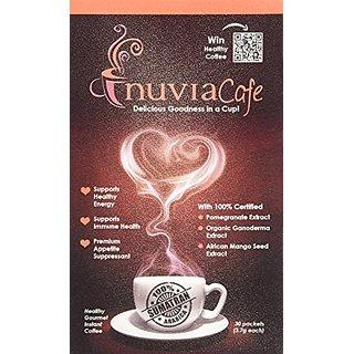 Nuvia Healthy Gourmet Instant Coffee, Dairy Free, Lactose Free, No GMOs, No Salt, Soy Free, Vegan, with Organic Ganoderm