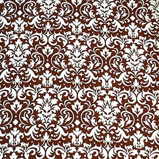 SheetWorld Fitted Pack N Play (Graco) Sheet - Brown Damask - Made In USA