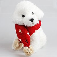 Menpet Pet Holiday New Year Lovely Decorative Wool Pet Scarves