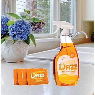 DAZZ Bathroom Cleaner Starter Pack with Spray Bottle - 6 total items