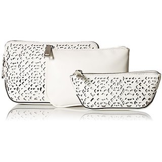 Ivanka Trump Rio Nesting Cosmetic Cases Bag, White, One Size