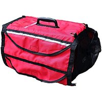 """19"""" Kennel Cover Dog Carrier Cat Crate Pet Cage Red Emergency Cover With Reflective Stripe For Small To Medium Size Pets"""