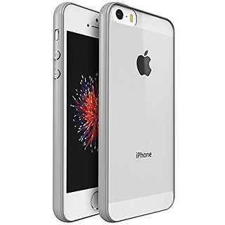 Generic iPhone Se 5 5S Case Cover Heavy-Duty Soft Touch Protective Premium PC Back TPU Frame 360-degree Protection(Grey)