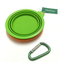 Niubow Pet Travel Bowl, Set Of 2 Silicone Pet Expandable/collapsible Food & Water Travel Bowl For Dogs Cats With Carabin