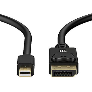 Mini DP TO DP Cable,TechRise 2-Meters Gold Plated Mini DisplayPort to DisplayPort cable Converter Adapter V1.2,4K Resolu