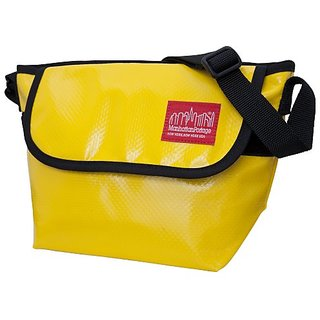 Manhattan Portage Vinyl NY Messenger Bag, Yellow