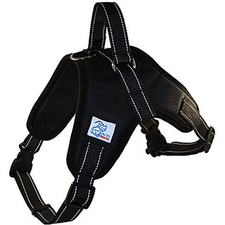 My Pets America Reflective, Adjustable Dog Harness with Leash and Handle - Large