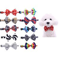 Yagopet 10pcs/pack New Pet Dog Bowties Dog Collar Neckties Dog Ties Adjustable Pet Grooming Products Dog Accessories Cut