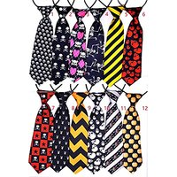 Yagopet 10pcs/pack Big Ties Halloween Large Dog Ties Skulls Dog Large Neckties 22inches Bow Ties Cat Dog Ties For Hallow