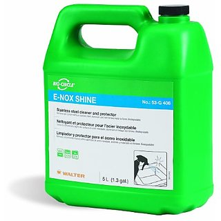 Walter 53G406 E-NOX Shine Stainless Steel Surface Cleaner and Protector, 5L Liquid