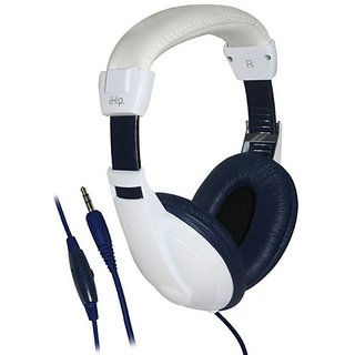 Ihip Headphones Extra Bass Lightweight - Navy-White - IPMHP999NV