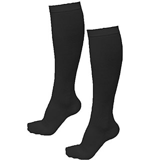Shop Flash Womens Graduated Premium Performance Recovery Exercising Socks, Black, Small/Medium