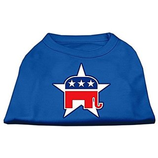 Mirage Pet Products 20-Inch Republican Screen Print Shirt for Pets, 3X-Large, Blue