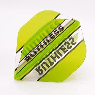 3 x SETS RUTHLESS Darts Flights Clear Panels Stripes Green Standard