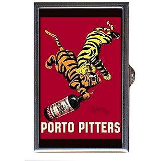 Vintage Liquor Ad Two Tigers Decorative Pill Box