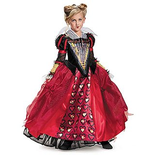 Disguise Red Queen Deluxe Alice Through The Looking Glass Movie Disney Costume, Medium/7-8