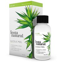 InstaNatural Glycolic Acid Peel - With Vitamin C, & Hyaluronic Acid - Best Treatment To Exfoliate Deep, Minimize Pores &