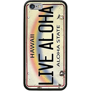 Live Aloha License Plate - Printed Hybrid Hard PC Soft TPU Silicone Smartphone Case Cover For iPhone 5S