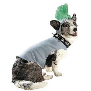 Mowhawk Punk Rock Hoodie Pet Dog Costume Large