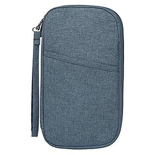 Jovilife Hands Strap Travel Clutch Bag Passport Wallet Waterproof Nylon, Grey