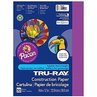 Riverside Paper Tru-Ray(R) Construction Paper, 9in. x 12in., Magenta