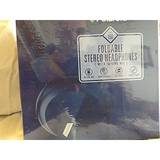 Polaroid Bi-Fold Stereo Headphones with in Line Microphone