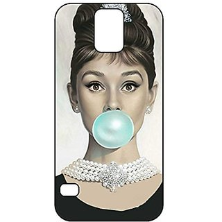 Audrey Hepburn Galaxy S5 Case, Audrey Hepburn Ballon Black Soft Rubber TPU Shock Absorbing Phone Case Protector for Sams