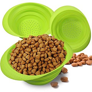 Jovilife Collapsible Premium Quality Pet Travel Bowl for Food & Water Bowls