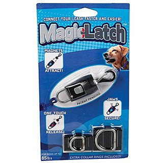 Magic Latch Dog Leash Fastener in Black