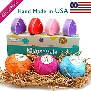 Rosevale bath bomb gift sets 100 hand made in usa with all rosevale bath bomb gift sets 100 hand made in usa with all natural ingredients negle Image collections