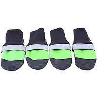 LittleTail Waterproof Outdoor Dog Wearable Non Slip Shoes Pet Rain Boots Green L