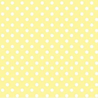 SheetWorld Round Crib Sheets - Pastel Yellow Polka Dots Woven - Made In USA