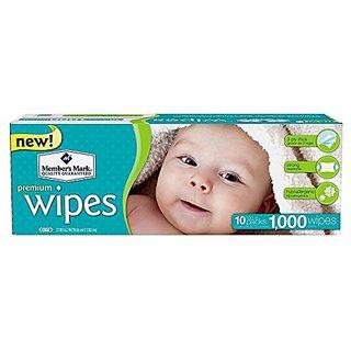 Members Mark Premium Baby Wipes, 1000 Ct. (10 Packs Of 100)