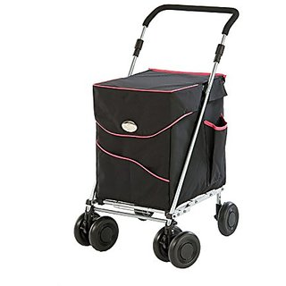 Sholley Deluxe with Black and Fuscia Pink Bag - The perfect shopping cart