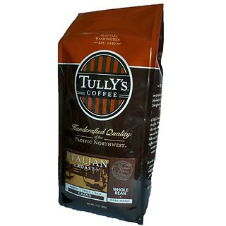 Tullys Coffee Italian Roast, Whole Bean, 12-Ounce Bags (Pack of 2)