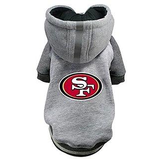 Hip Doggie NFL 49ers Pet Hoodie, 3X-Large