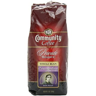 Community Coffee Private Reserve Whole Bean Coffee, Evangeline Blend, 12-Ounce Bags (Pack of 3)