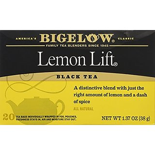 Bigelow Lemon Lift Tea (20 Tea Bags per box) (Pack of 4 boxes)